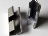 热销 LED灯带铝槽V型老款配件 180度转角 塑料直通 铝槽延