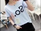 新款夏季女装学生宽松韩版百搭港味小心机上衣服印花短袖t恤