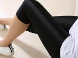 夏季新款爆卖光泽裤薄款七分超柔打底裤神裤