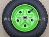 手推车轮子厂家 14寸3.50-8小推车轮 3.50-8充气车轮