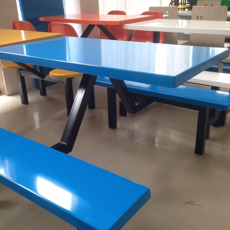 南宁市学校食堂餐桌椅出厂 食堂用条凳餐桌椅批发