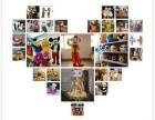 杨家坪人偶出租,场景布置,小丑高跷,面塑.棉花糖,糖画表演