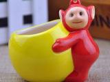 天线宝宝陶瓷杯 卡通陶瓷慕斯杯 甜品容器