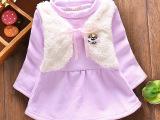 16年冬装新款 时尚韩版女童宝宝上衣 假