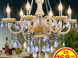 欧式LED水晶工程吊灯 现代蜡烛水晶灯 中山古镇灯饰具批发餐厅灯