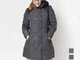 月龙羽绒服90%绒女式韩版修身仿皮中长保暖1213