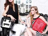 外贸真皮品牌女包 欧美时尚潮流百搭笑脸纯色牛皮女士手提单肩包