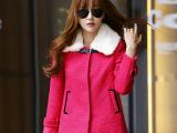 2014秋冬新款韩国时尚甜美小香风带毛领羊毛呢子斗篷女式短小外套