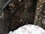 9成新吊摇篮,仿藤编织,双人坐,带冬用棉垫,不包运输