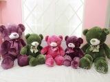 代发泰迪熊绿紫粉领结熊抱抱熊毛绒玩具1.2米大号 七夕女生日礼物