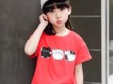 厂家直销批发中小童短袖卡通可爱短袖