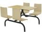 长春选选员工食堂餐桌椅,小饭店餐桌椅,选哈中信品牌餐桌椅