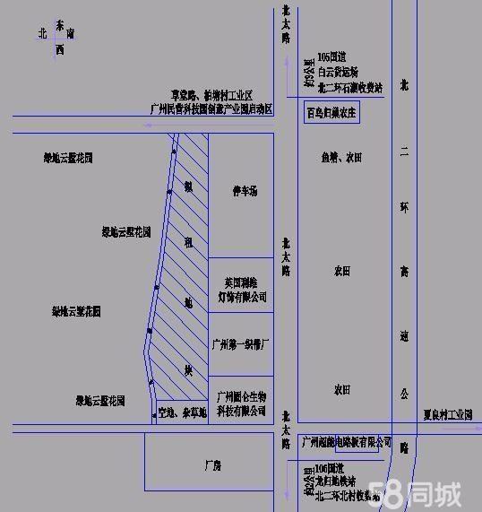 (出租)龙归 夏良村北太路 土地 20000平米