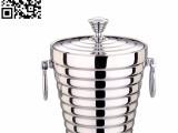 不锈钢银钻双环双层冰桶正迪产品
