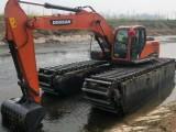 银川市内210水陆两用挖掘机出租