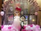 阜阳一男子为女友精心准备的生日气球布置 天空气球