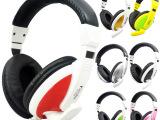 数码电脑配件 彩色网吧电脑耳机 头戴式双插耳机 T-155通用版