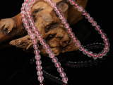 天然粉水晶多圈混搭石榴石孔雀石手链 旺人缘增强自信 原创饰品