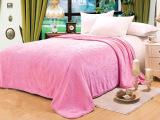 北欧纯色 法莱绒立体剪花 法兰绒珊瑚绒毛毯 外贸批发零售