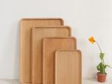 方形实木面包点心餐盘 无漆环保酒店咖啡木