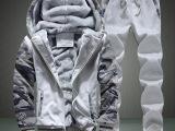 秋冬季新款男士卫衣套装休闲运动韩版加绒加