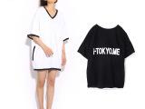 日式日系女装外贸原单贴布绣字森女系时尚大码女装高端t恤批发