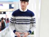 2014春秋薄款毛衣男士针织衫青年韩版休闲毛衣修身外套男上衣 潮
