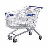 厂家直销大中小号超市手推购物车 美式带凳超市购物手推车理货车