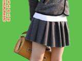 女装新款韩版高腰半身裙 毛呢百褶裙 短裙包臀裙 欧美女装