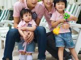 定制韩国家庭装亲子装 深圳工厂直批 短袖情侣装六一儿童夏装爆款