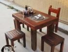 低价销售老船木家具功夫茶台博古架茶水柜现代简约阳台小茶桌组合