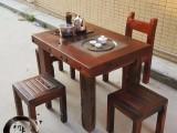 低价直销老船木家具组合功夫茶台博古架茶水柜阳台小茶桌
