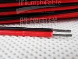 ul线材厂家供应LED电源连接红黑双排线 PVC电子线 UL24