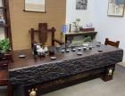 古典船木家具 中式古船木茶台茶几方形石磨茶桌批发