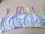 厂家直销 纯棉卡通可爱少女儿童学生背心文胸发育期吊带批发