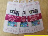 现货批发通用iphone手机钢化玻璃膜水晶盒包装 透明水晶壳纸盒