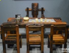 咸宁市老船木茶桌椅子仿古茶台实木沙发茶几餐桌办公桌家具博古架
