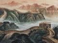 北京长城国画订制,北京墨轩山水画