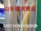 新款PU聚氨酯风管60 0.6mmPU钢丝软管透明pu吸尘管