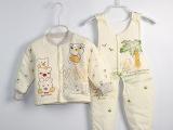 2015秋冬季宝宝纯棉棉衣背带套装男女婴幼儿童棉内胆棉袄加厚衣服