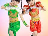 新款儿童舞蹈演出服装女学生幼儿舞台表演服饰秧歌舞二人转腰鼓服