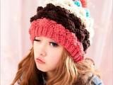 韩版冬季 帽子 女秋冬天韩国可爱针织帽保暖菠萝毛线帽子女士批发