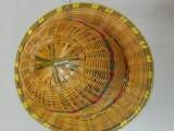 工地竹子安全帽夏季安全帽竹子帽子圆竹子安全帽漂流帽子现货批发