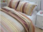 美式乡村 外贸原单衍缝被全棉色织纯棉床盖加厚床单绗缝被三件套