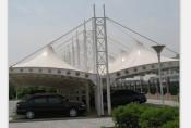 潍坊膜结构停车棚厂家,膜结构停车场车棚