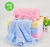 广州新婴坊较新款天鹅绒婴儿浴巾,产妇浴巾婴儿被子小包被10064