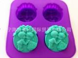 硅胶天使皂模4连男孩女孩铃铛天使硅胶手工皂模具蛋糕模不粘易脱