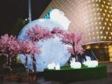 网红充气玉兔月球 充气月球月兔中秋节商场装饰 广州气模厂家