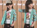 女童装 2015新款童装外套 韩版女童装 大童春季外套