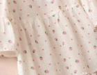 女童螺纹草莓圆领,短袖喇叭袖上衣